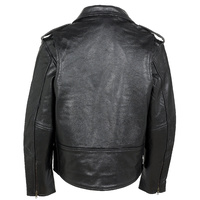 Mens Johnny Reb JRJ10008 Leather Biker Jacket