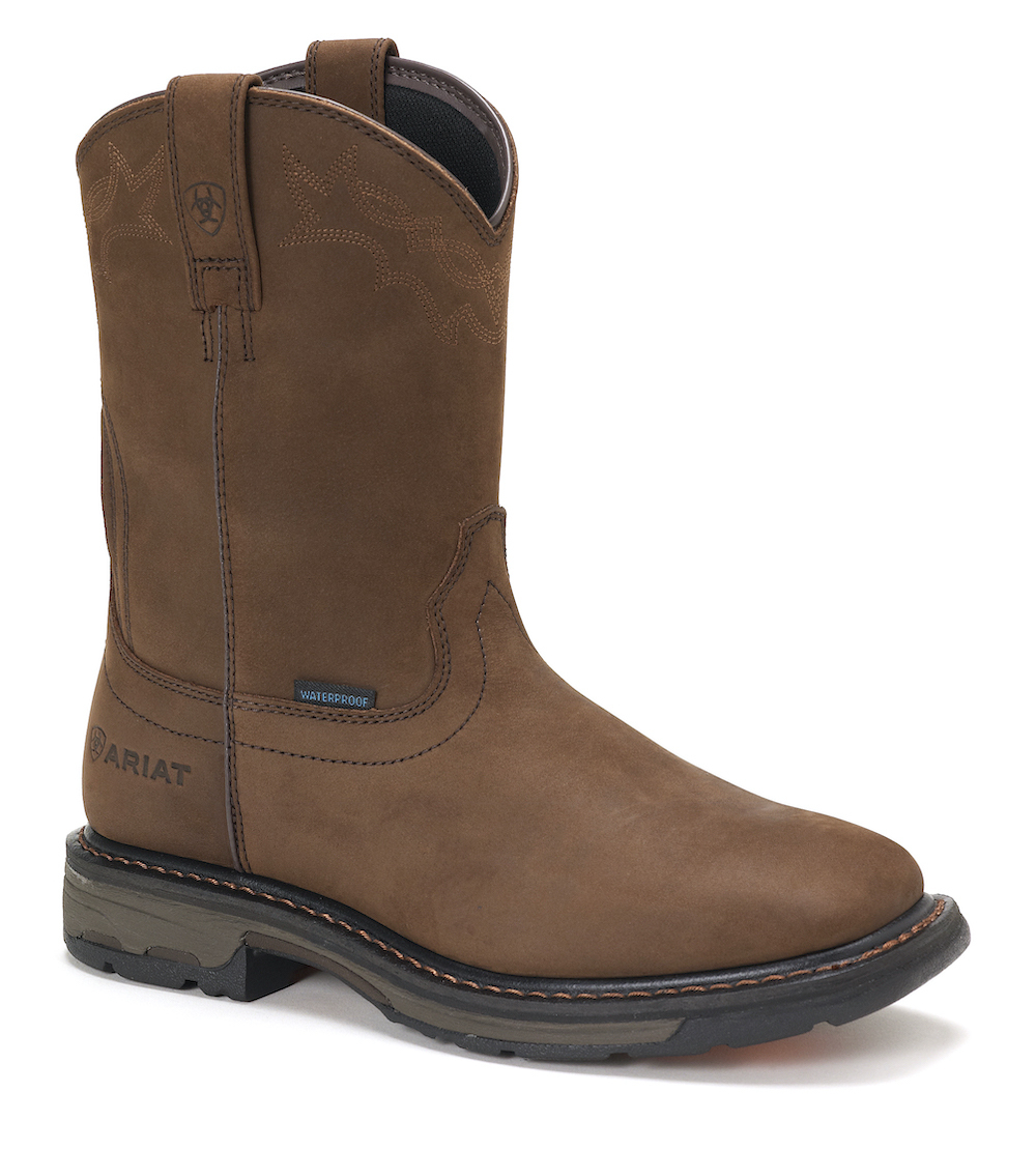 Mens Ariat 10020093 Square Toe WorkHog H2O