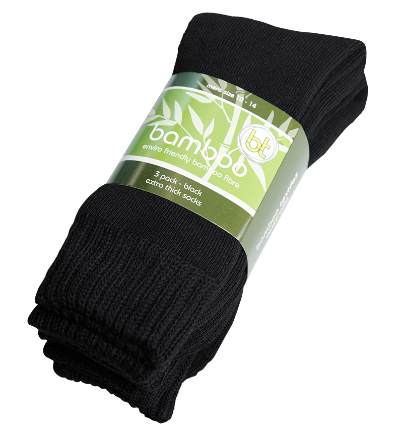 3-Pack of Extra Thick Navy Blue Bamboo Socks