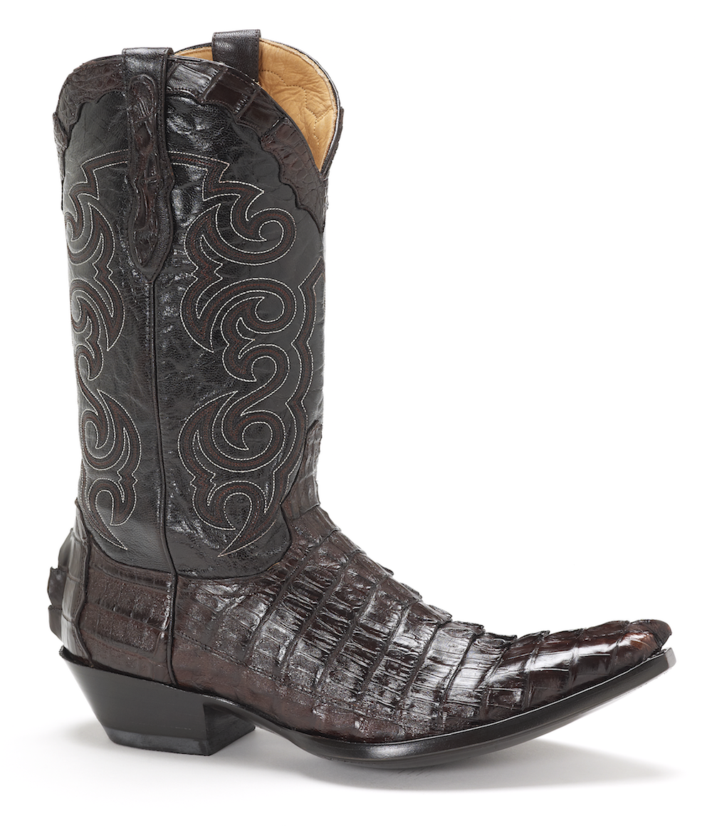 Mens Sendra Chocolate Texas Caiman