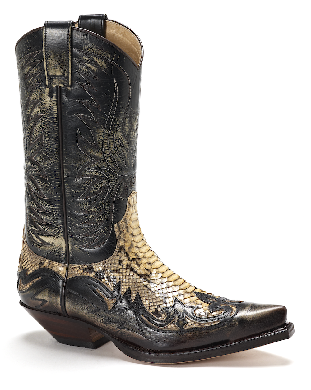 Mens Sendra 3241 Natural Snakeskin Cowboy Boot
